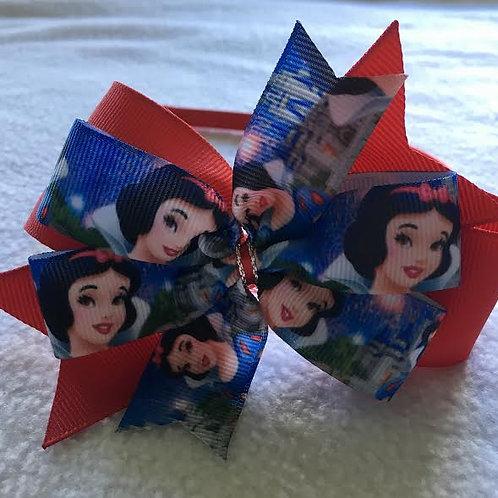 Snow White Double Pinwheel Bow