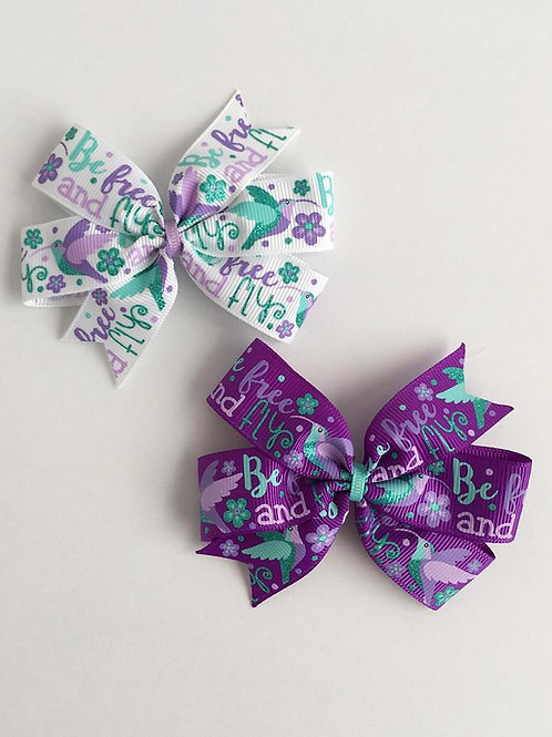 Be Free and Fly mini pinwheel bow