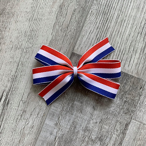 Red White Blue Mini Pinwheel Bow