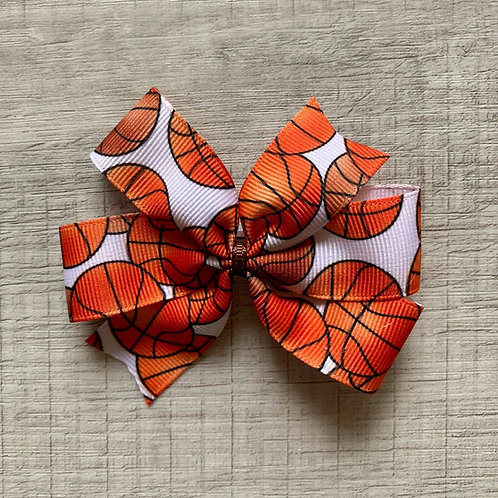 Basketball mini pinwheel bow