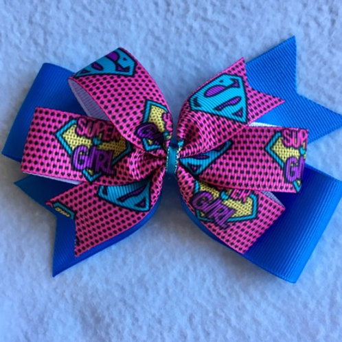 Super Girl Double Pinwheel Bow