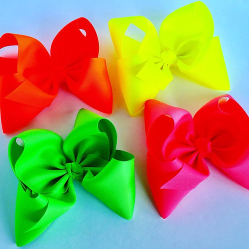 Neon Texas sized Loopy Bow