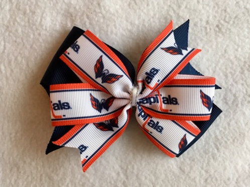 Washington Capitals double pinwheel bow