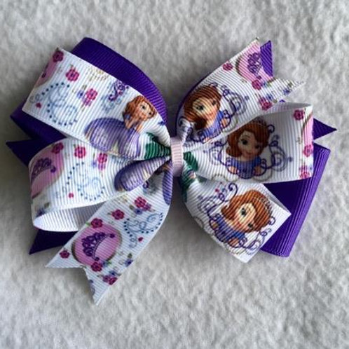 Sofia the First crown Double Pinwheel Bow