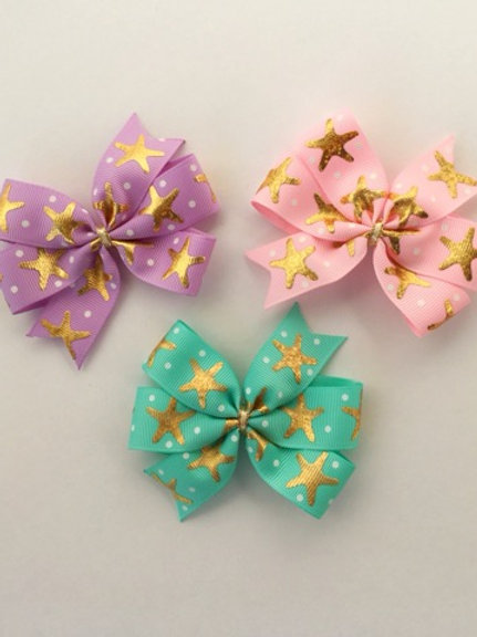 Starfish Mini Pinwheel Bow