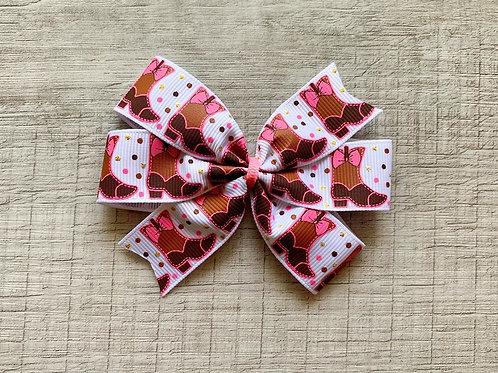 Boots mini pinwheel bow