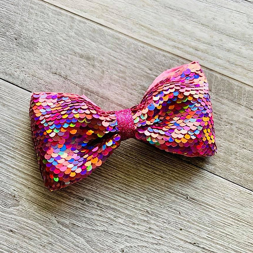 Pretty in Pink Flip Sequin Bow-tie Bow
