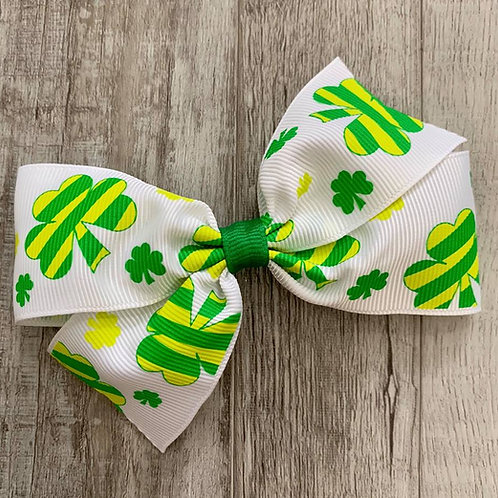 St. Patrick's Day Single Loop Bow