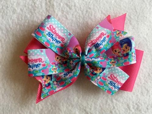 Shimmer & Shine Double Pinwheel Bow