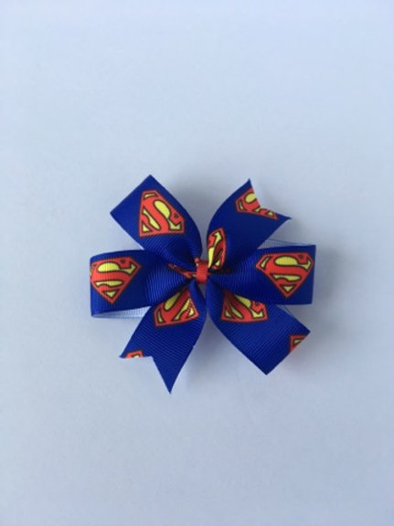 Superman mini pinwheel bow