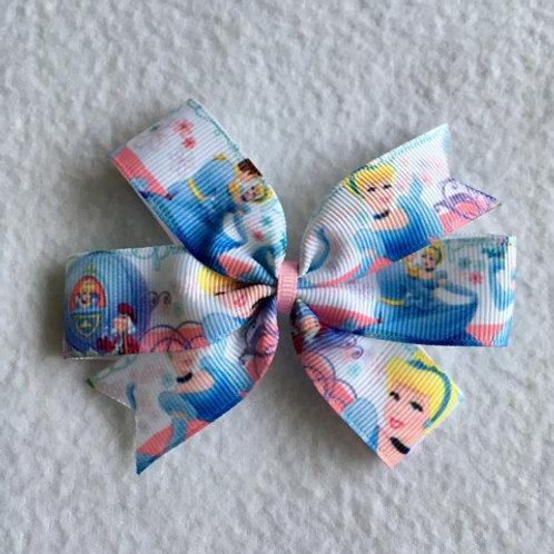 Cinderella & Prince Charming Mini Pinwheel Bow