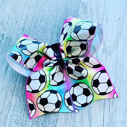 Soccer Cheer Style Bow