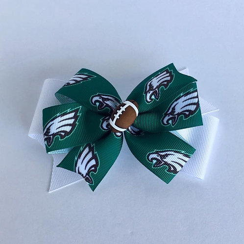 Philadelphia Eagles double pinwheel bow