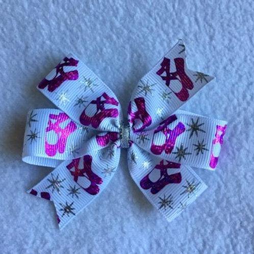 Ballet Slippers mini pinwheel bow