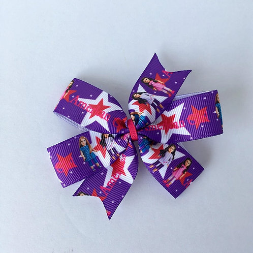 American Girl doll mini pinwheel bow