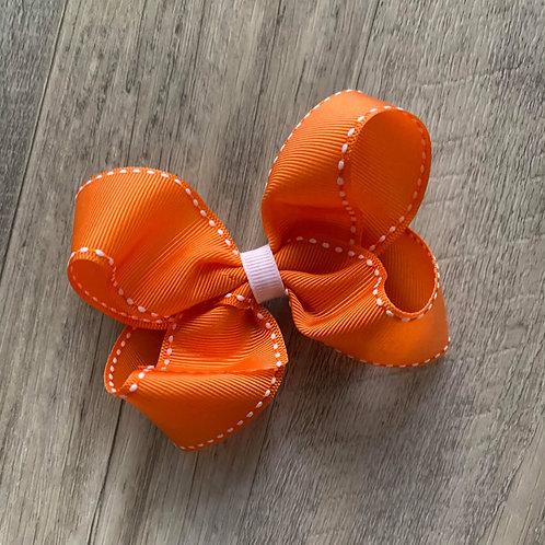 SALE Orange Loopy Bow