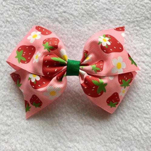 Strawberries Simple Loop Bow