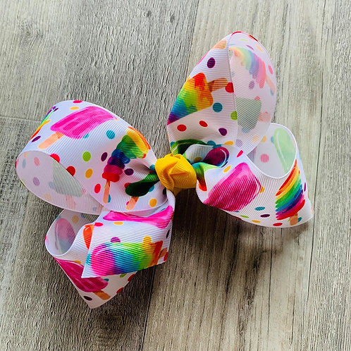 Rainbow Popsicle Loopy Bow