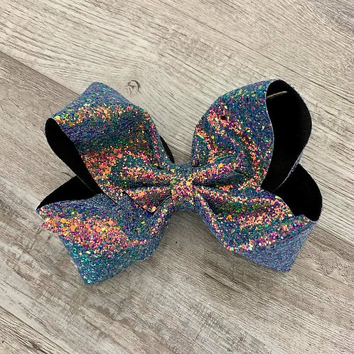 Moonlight Opal Chunky Glitter Texas sized Loopy Bow