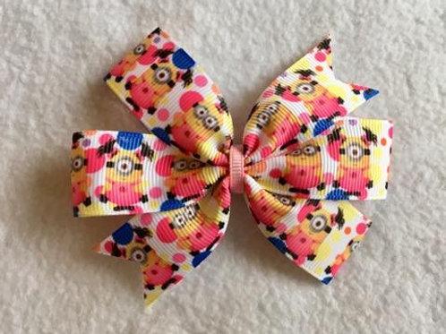 Minions mini pinwheel bow
