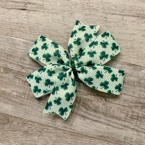 Shamrocks Mini Pinwheel Bow