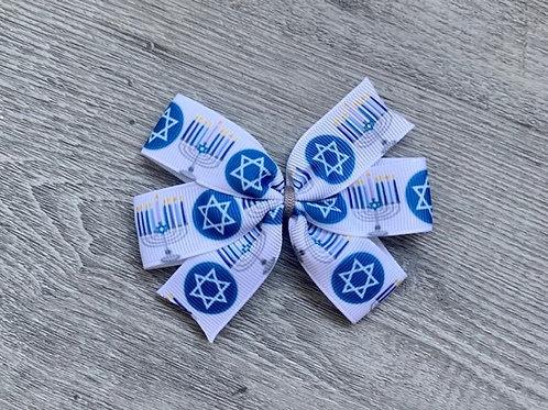 Hannukah Mini Pinwheel Bow