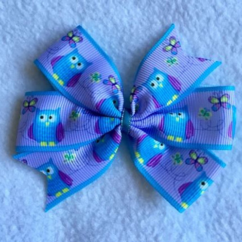 SALE Owls Mini Pinwheel Bow
