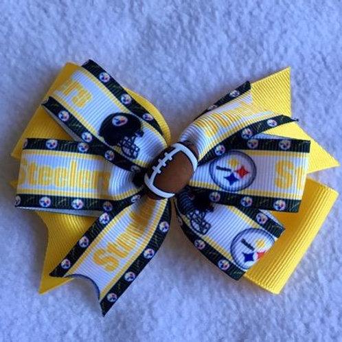 Pittsburgh Steelers double pinwheel bow