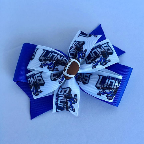 Detroit Lions double pinwheel bow