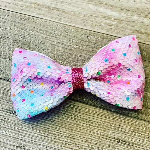 Confetti Surprise Flip Sequin Bow-tie Bow