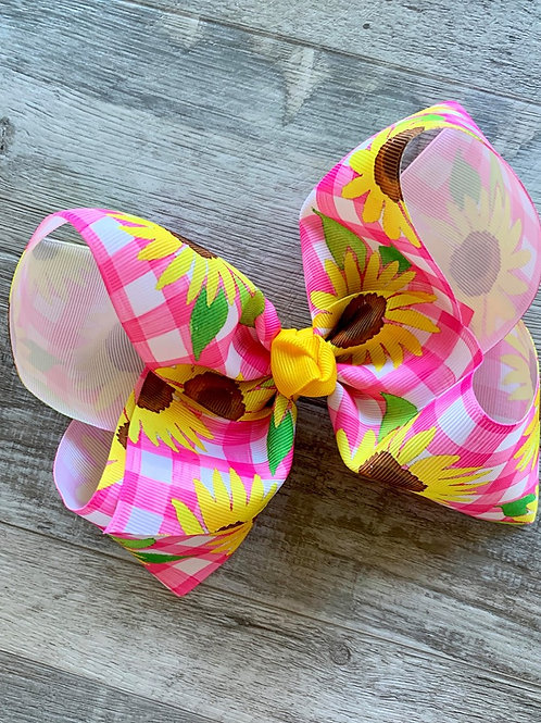 Sunflowers Texas Size Loopy Bow