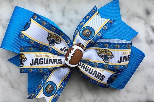 Jacksonville Jaguars double pinwheel bow