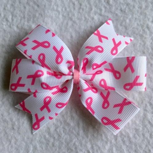 Breast Cancer Awareness Mini Pinwheel Bow