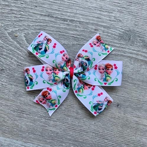 Frozen mini pinwheel bow