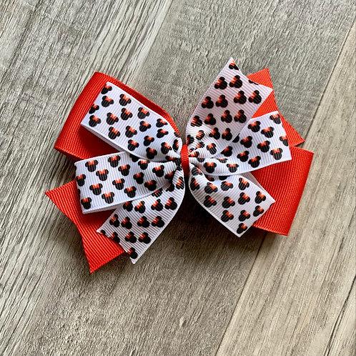 mini Minnie Mouse Double Pinwheel Bow