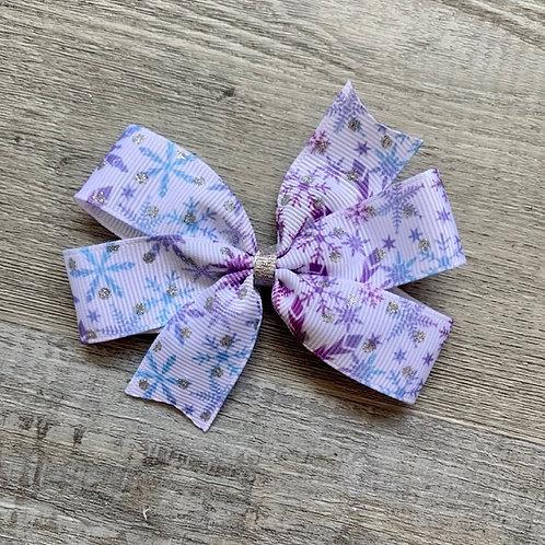 Frozen Snowflakes mini pinwheel bow