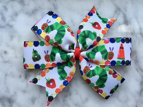 The Very Hungry Caterpillar mini pinwheel bow