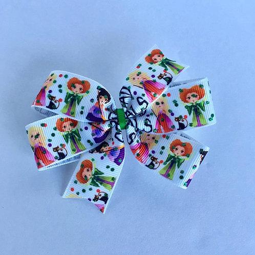 Squad Goals mini pinwheel bow