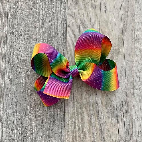 Rainbow Loopy Bow