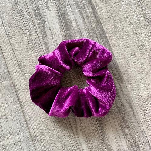 Plum Velvet Scrunchie