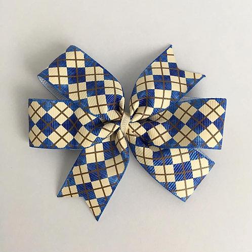 Argyle mini pinwheel bow