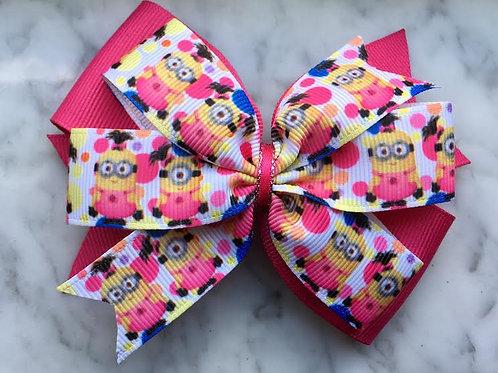 Minions Double Pinwheel Bow