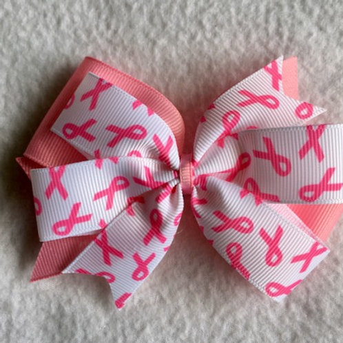 Breast Cancer Awareness Double Pinwheel Bow