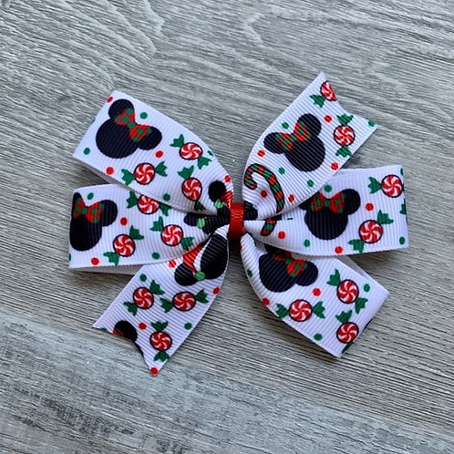 Disney Christmas mini pinwheel bow