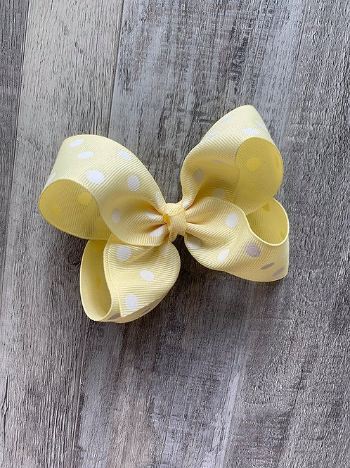 SALE cream with white dots Loopy Bow