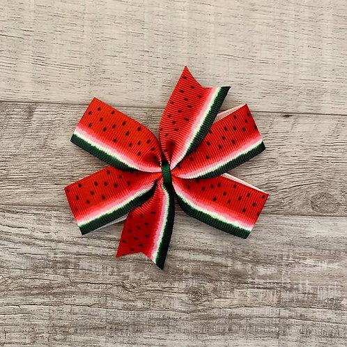 Watermelon Mini Pinwheel Bow