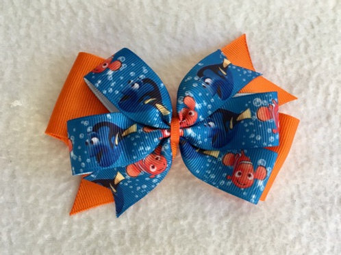 Nemo & Dory Double Pinwheel Bow
