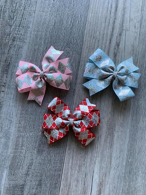 SALE Silver accented mini pinwheel