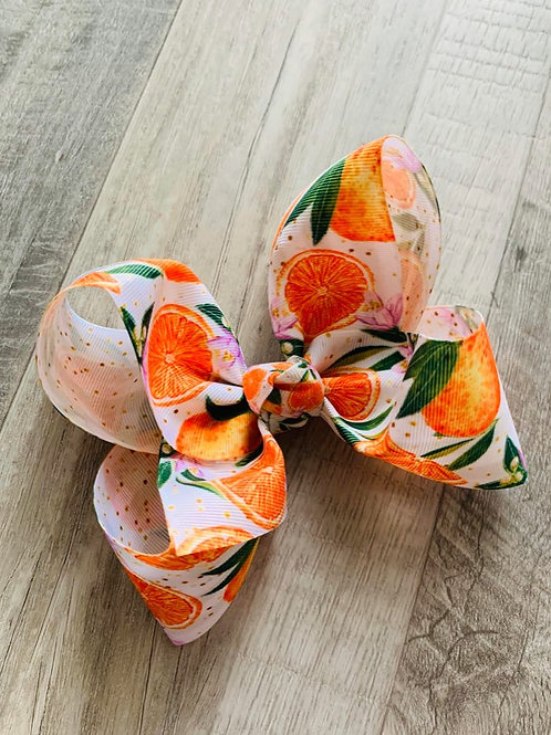 Oranges Loopy Bow