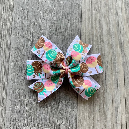 Cake Pops Mini Pinwheel Bow